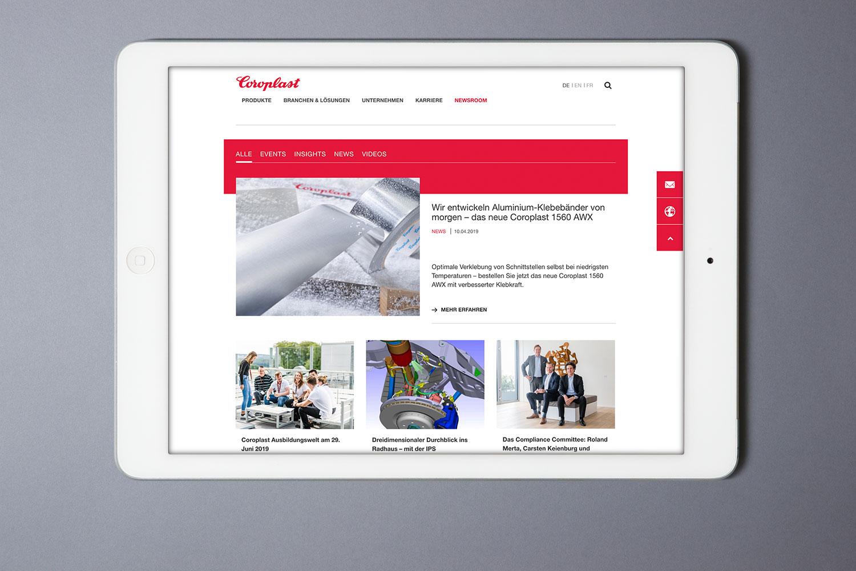 Coroplast, Website