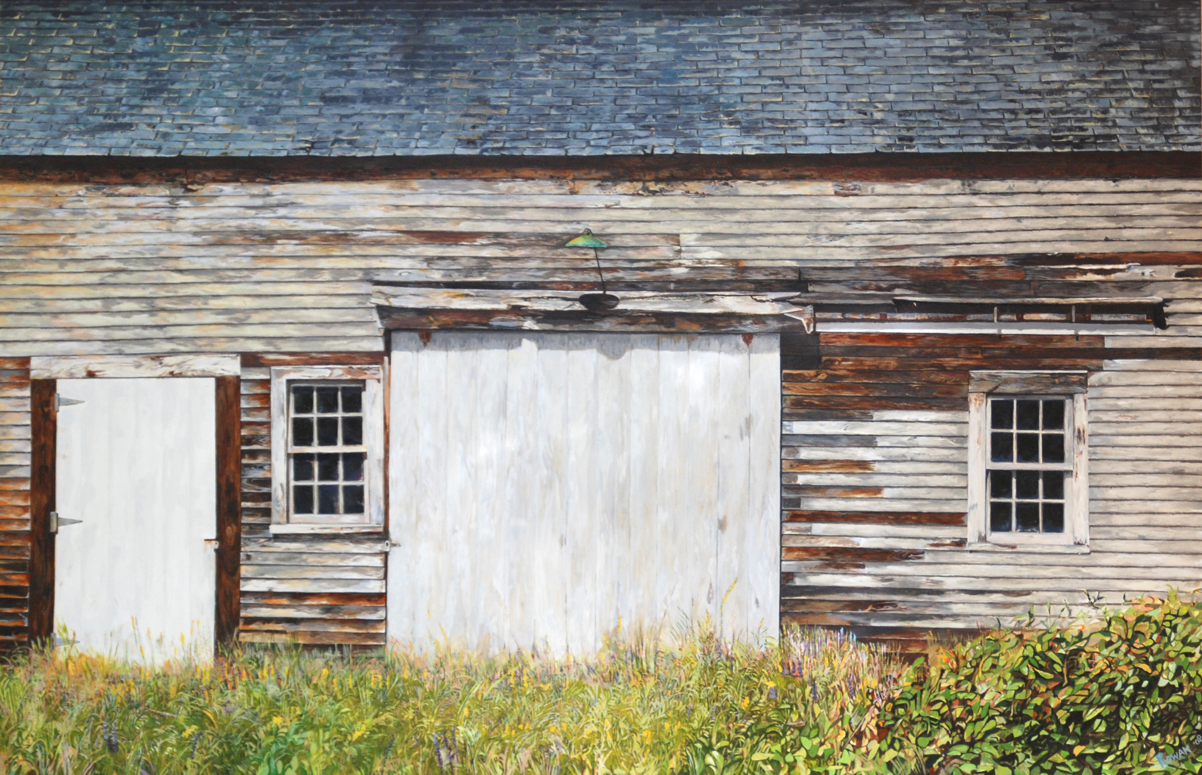 "Deer Isle, Maine, Barn  Oil on panel  24"" x 36""  Sold, Private Collection"