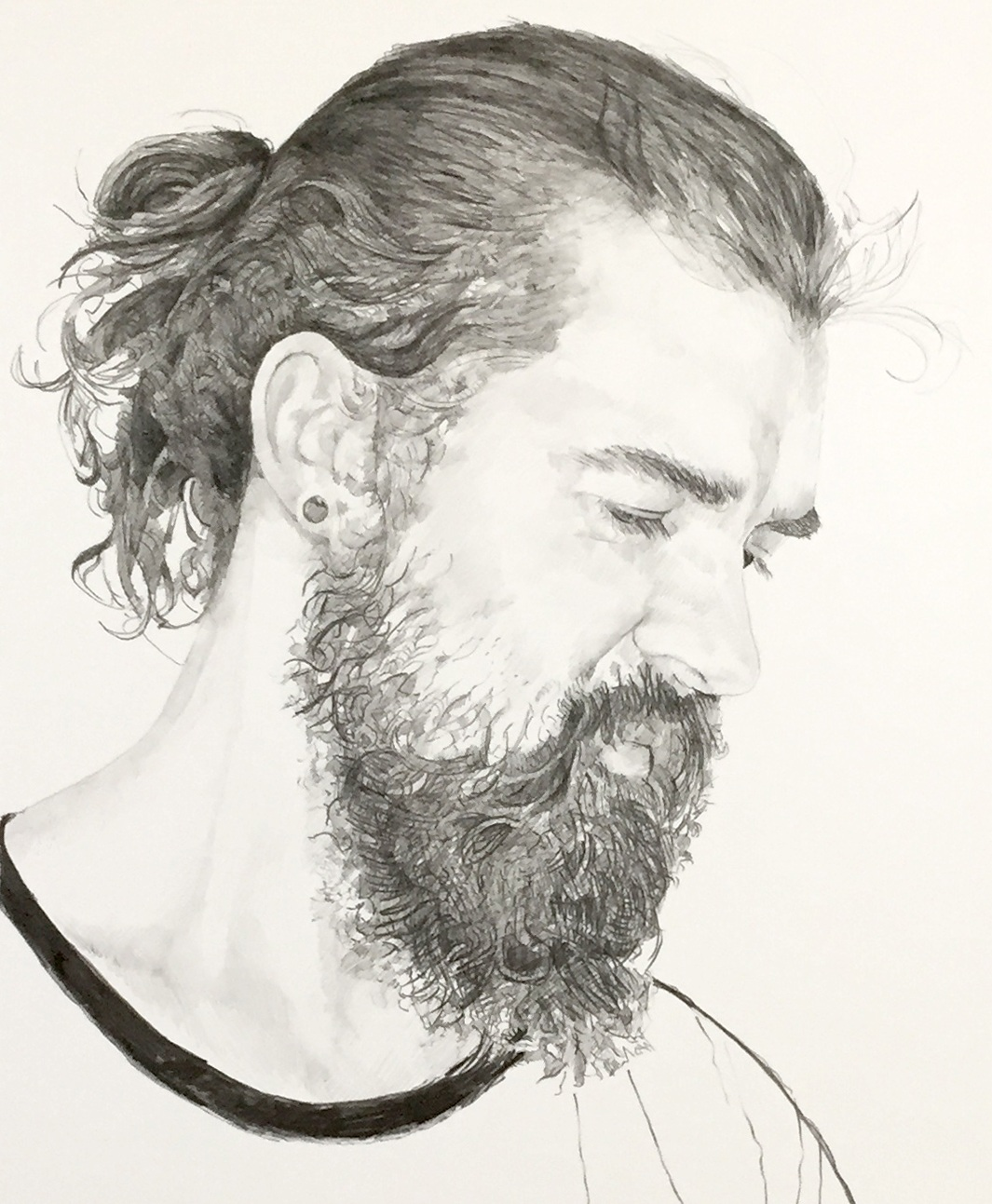 Dan  Graphite on paper 12 x 10