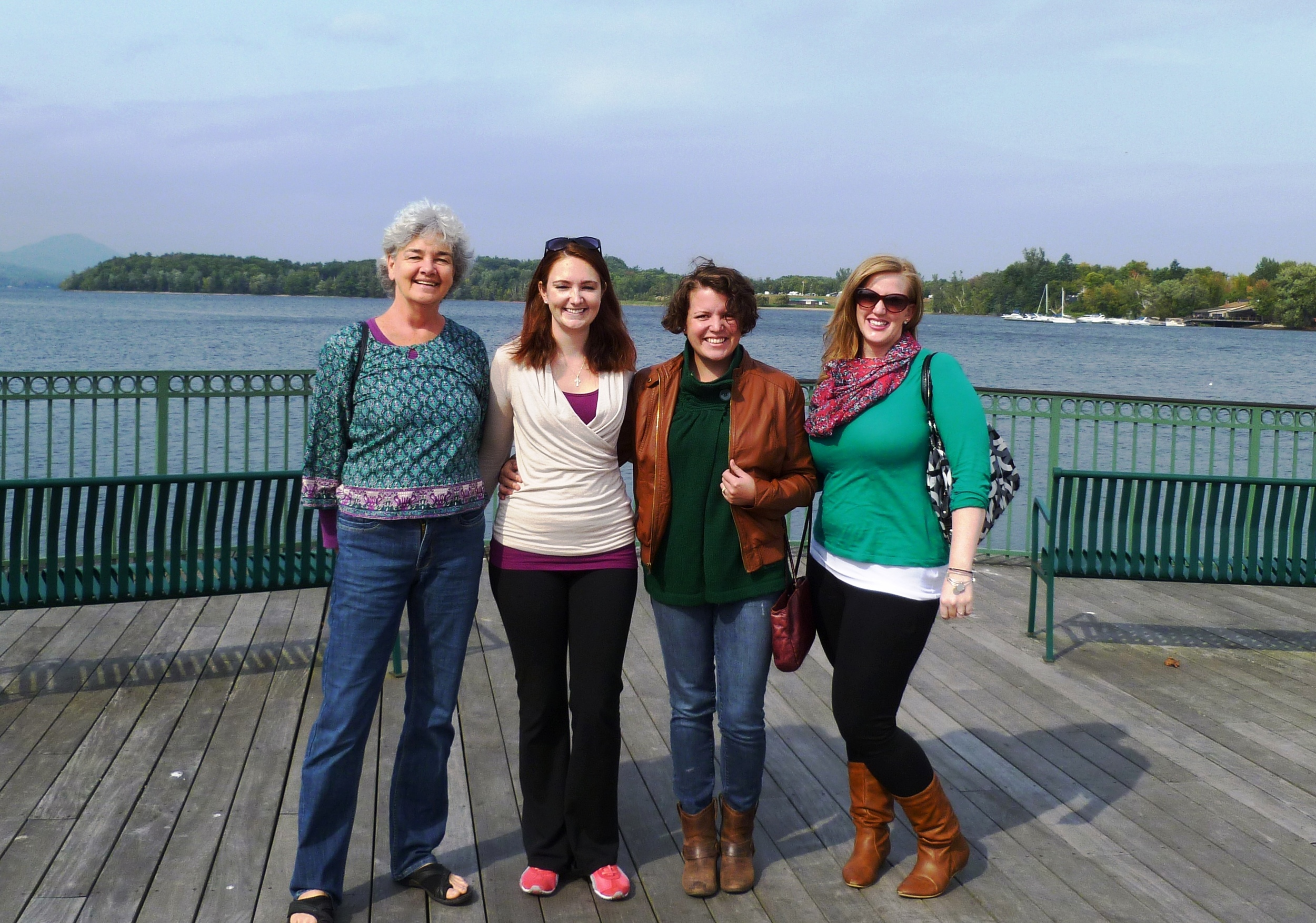 My mom, me, Linzy and Nicole - Newport, VT on September 20th