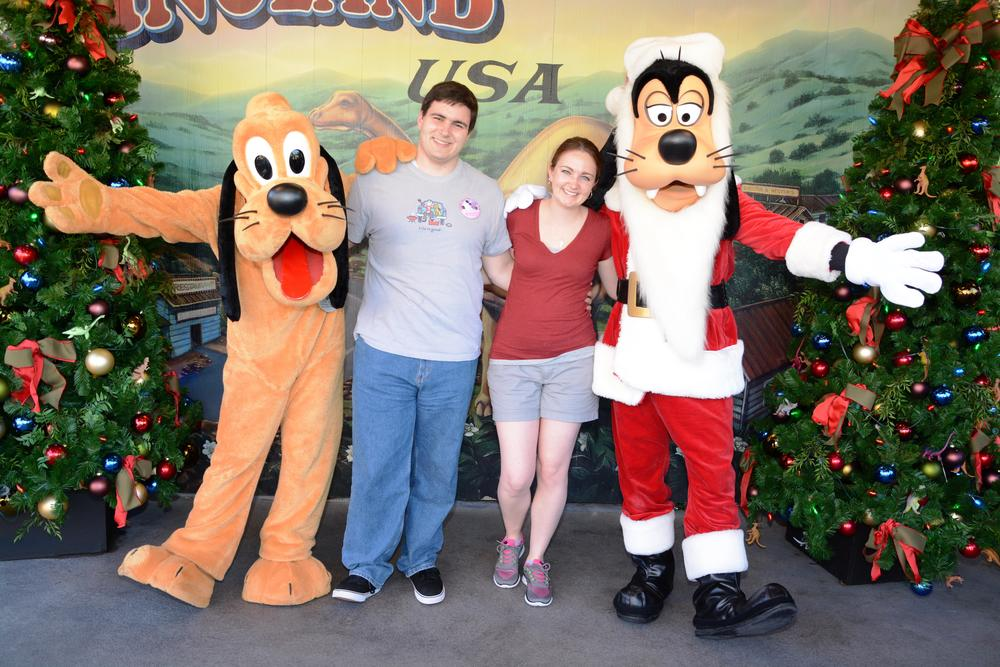 The only thing better than Disney, is Disney at Christmas with a Santa Goofy.