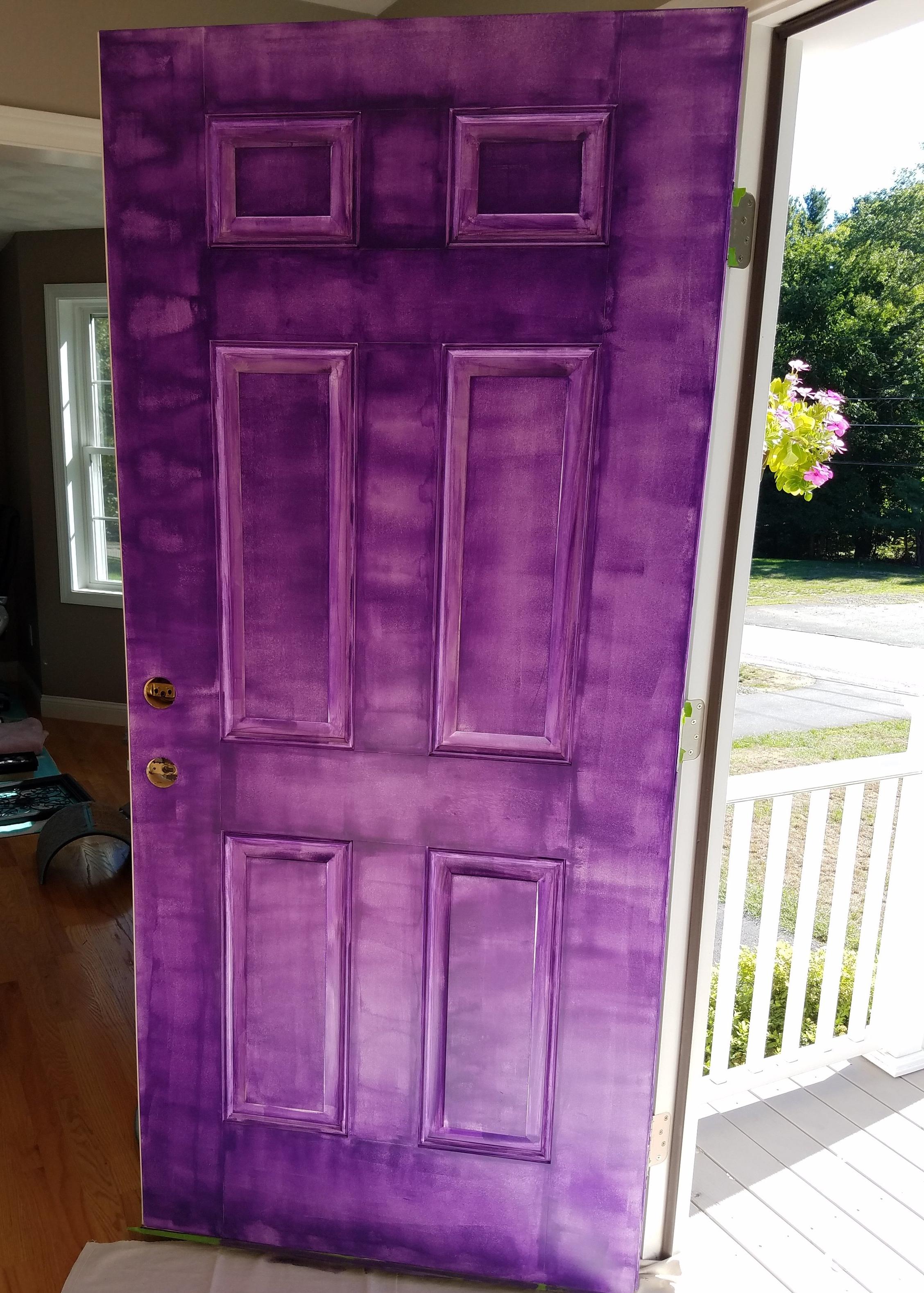 Paint a door purple