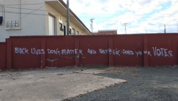 Graffiti in Durham, North Carolina