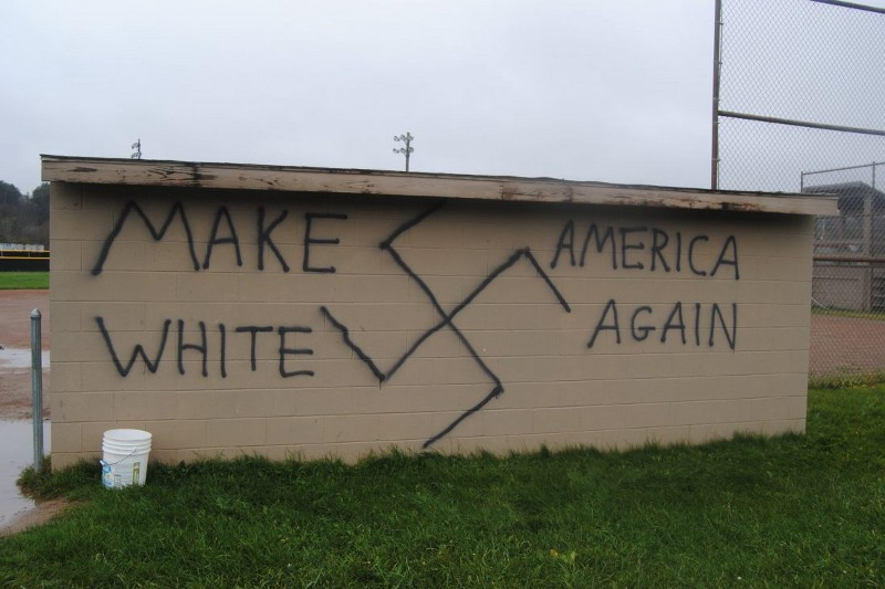 Graffiti in Wellsville, New York