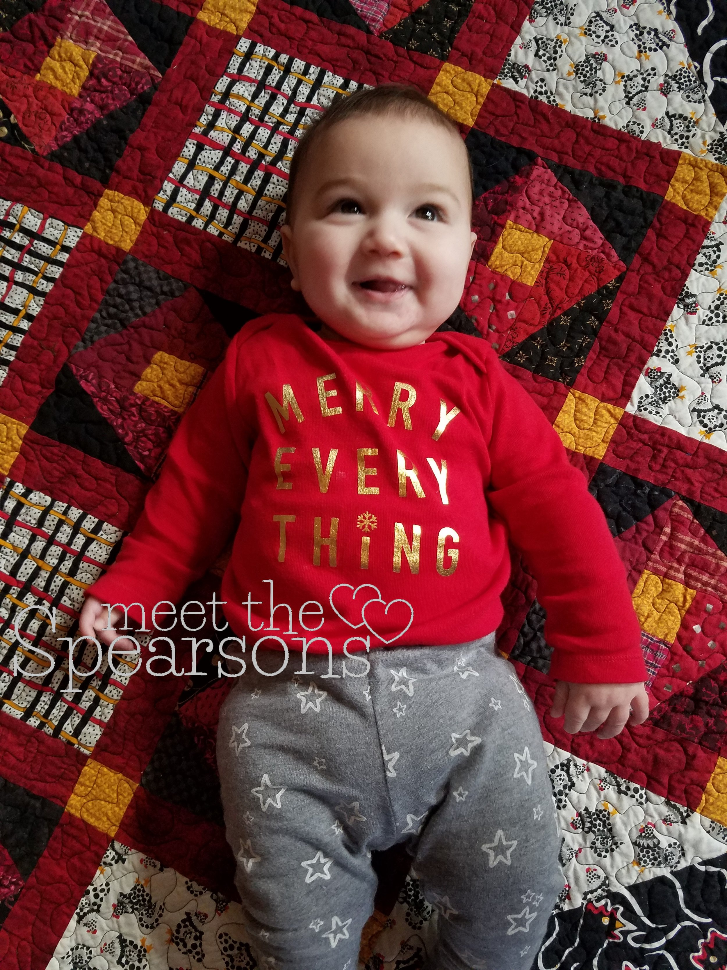 Merry Everything baby first christmas