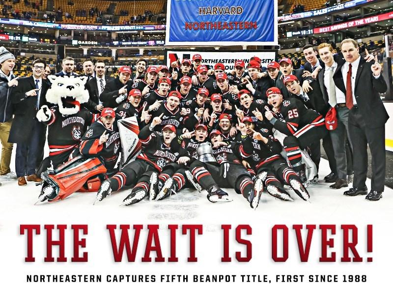 Beanpot Northeastern Hockey Winners