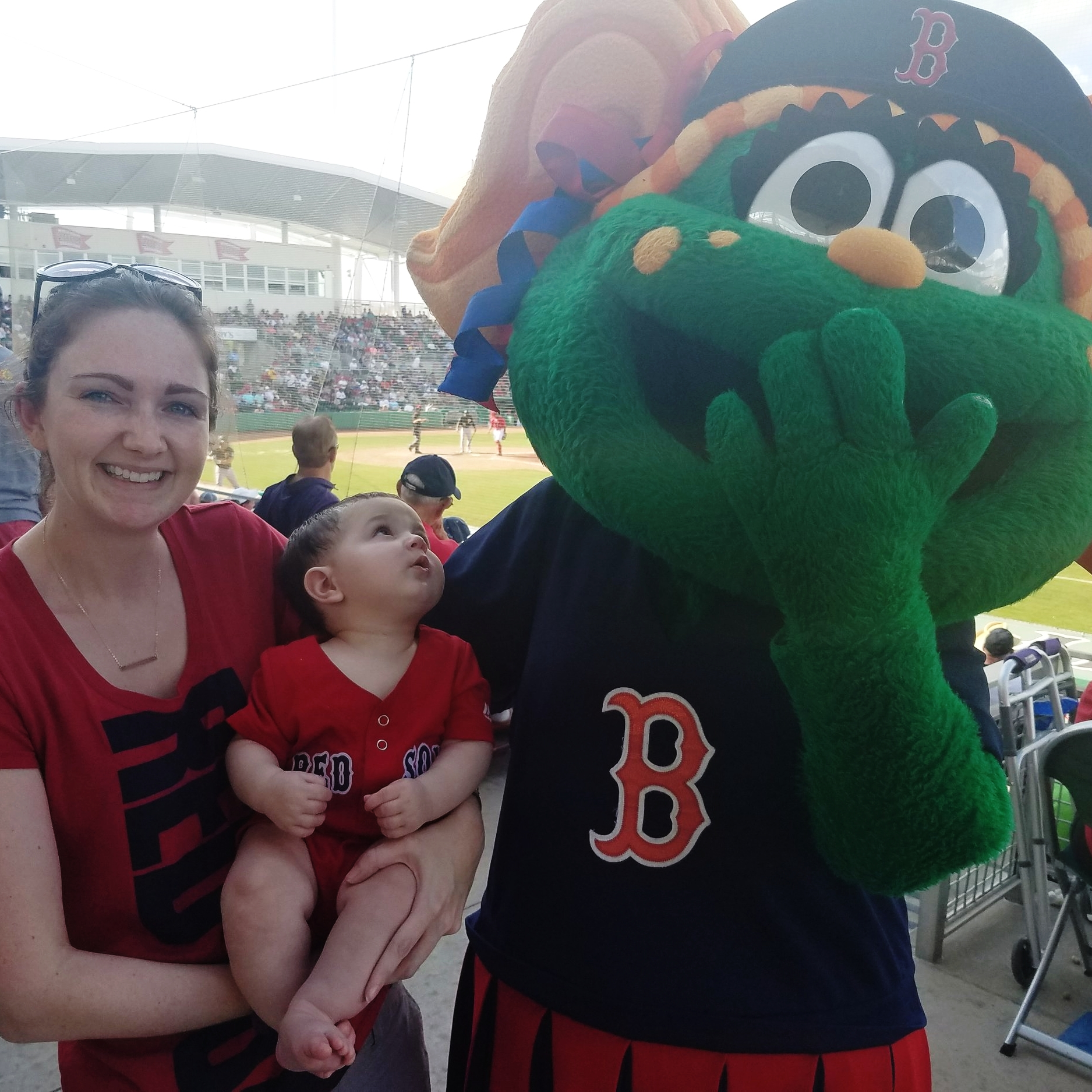 Baby at red sox game Tessie