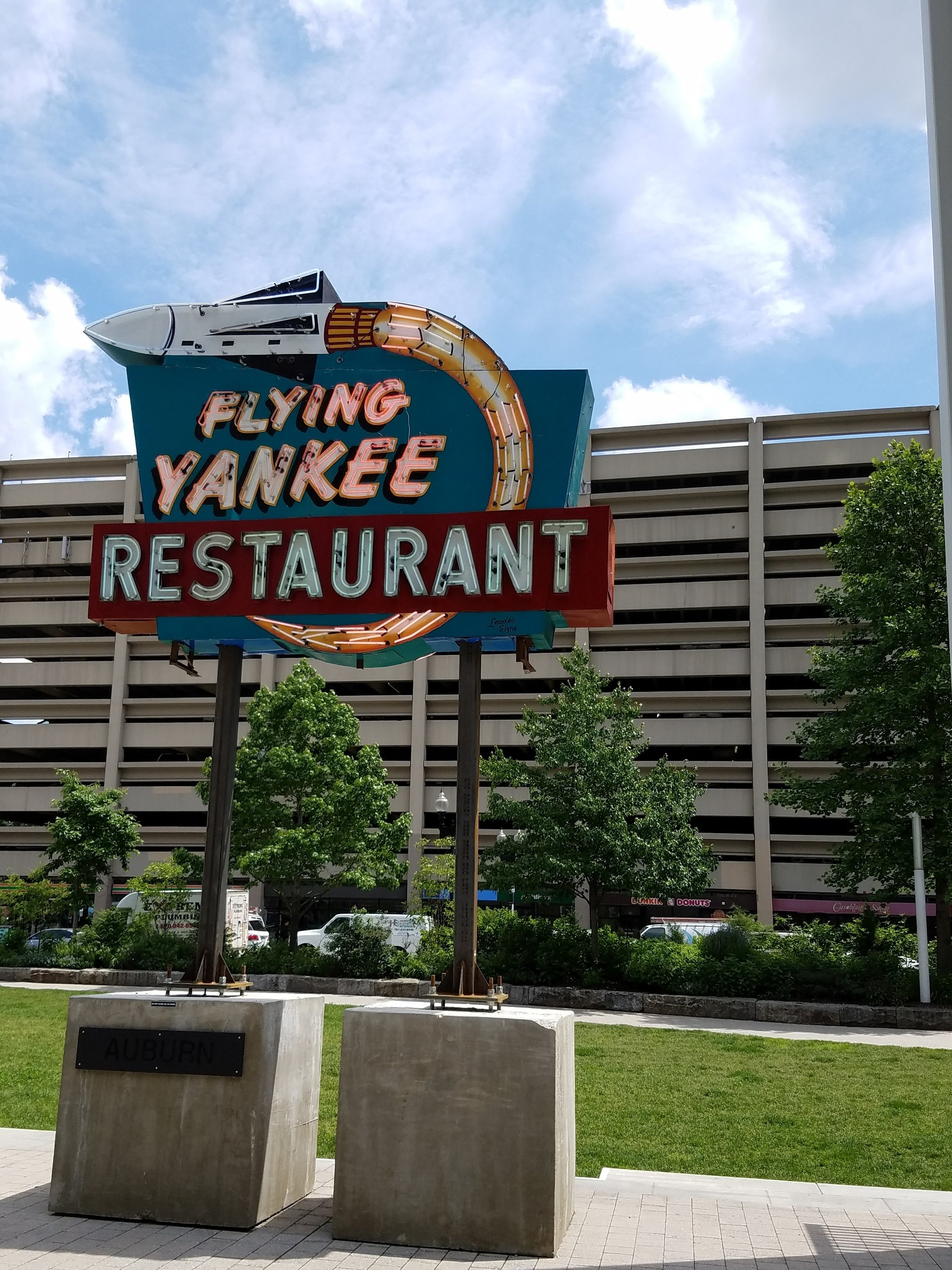Boston Greenway Neon Sign Art Flying Yankee Restaurant