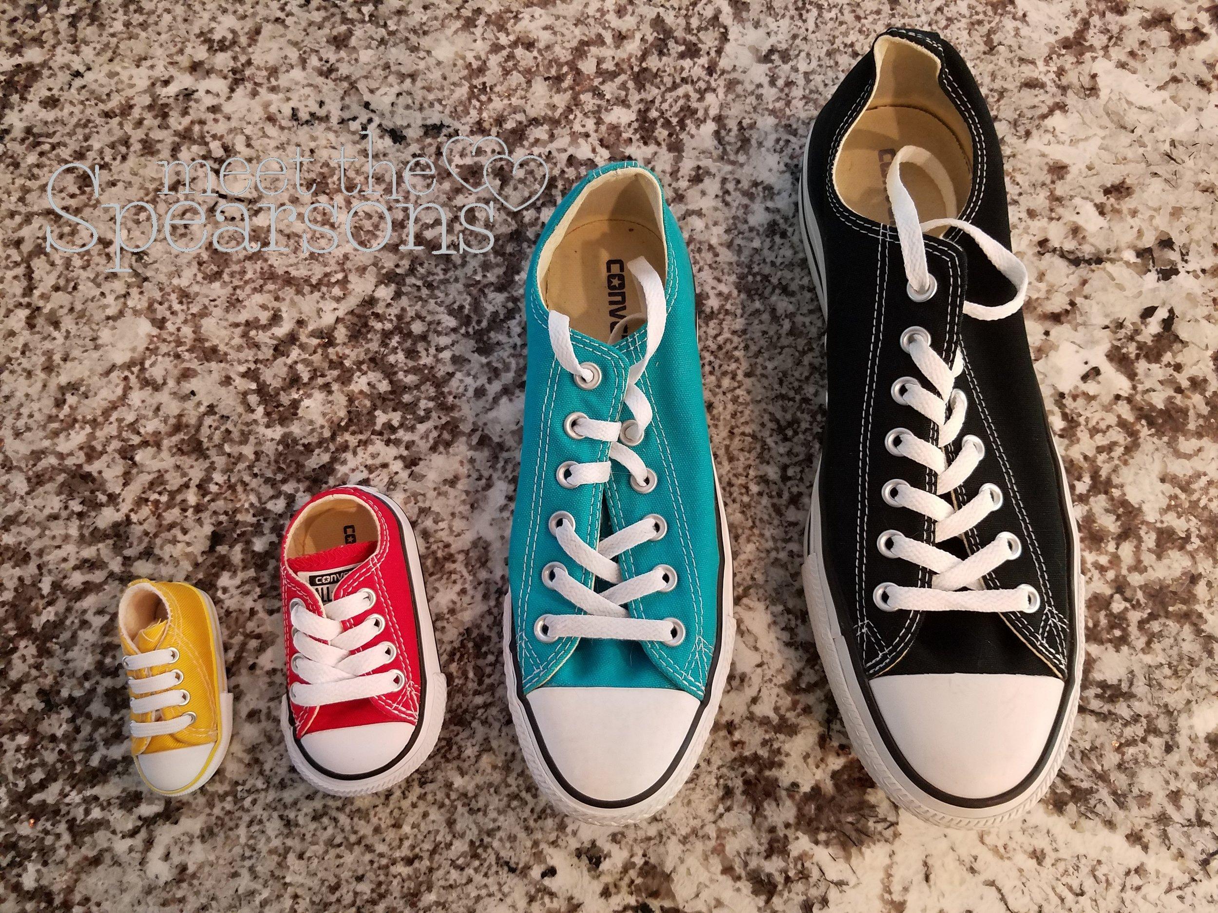 Converse Sneakers Pregnancy Announcement