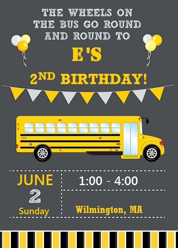 Wheels on bus birthday