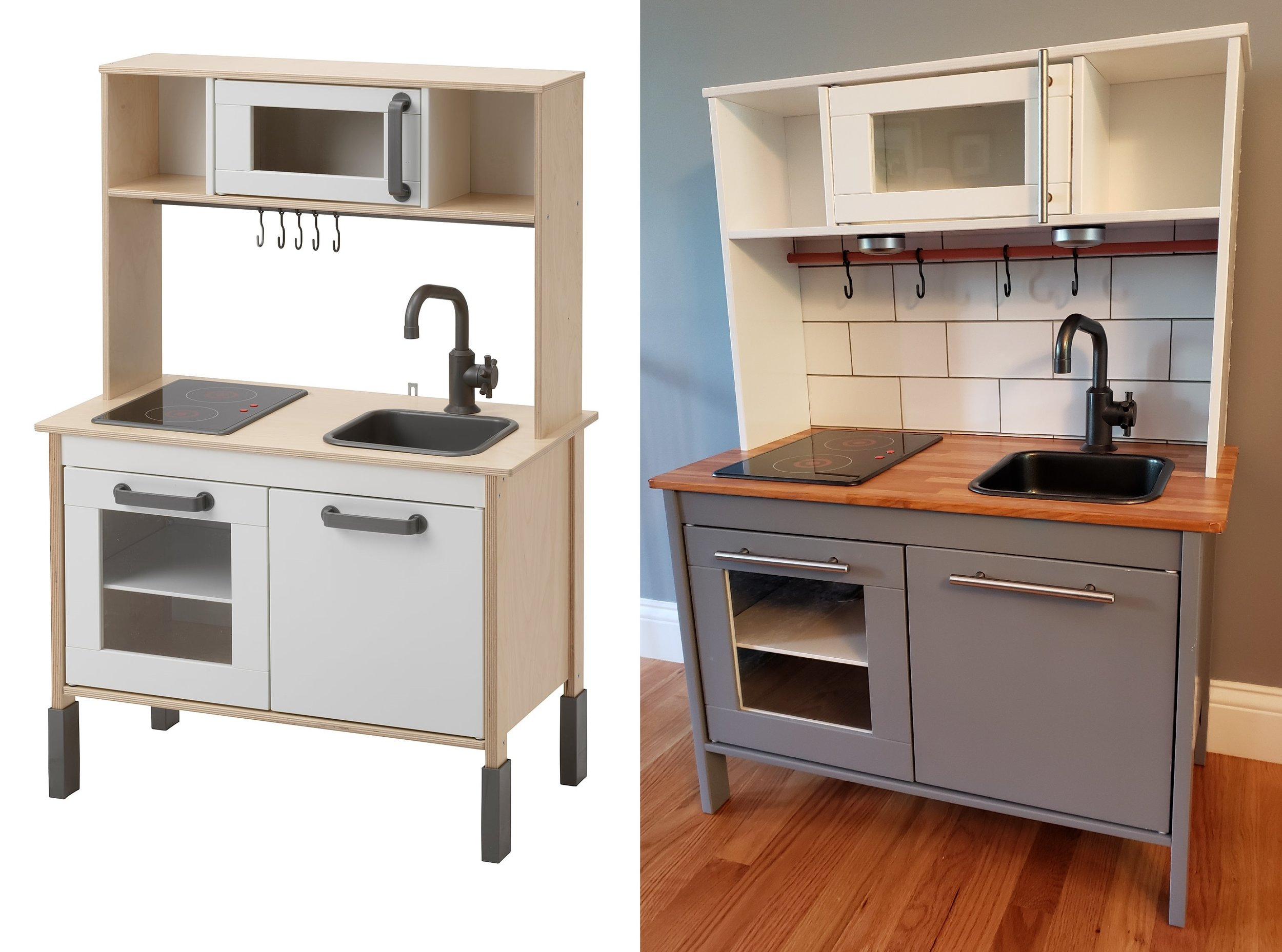 Ikea Play Kitchen Before After