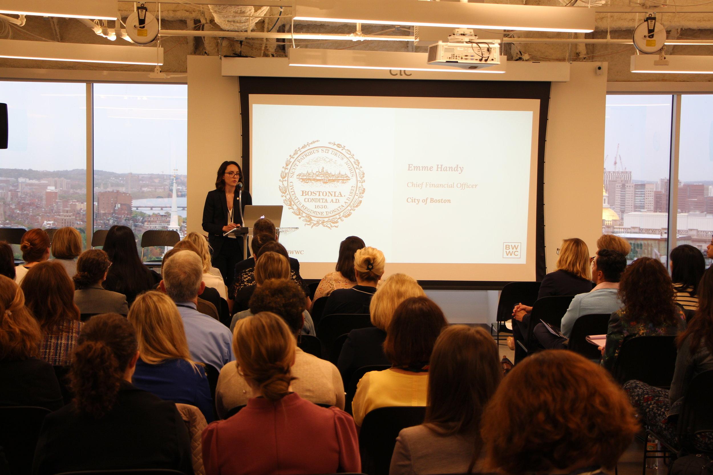 When women succeed, Boston succeeds. - Emme Handy, CFO, City of Boston