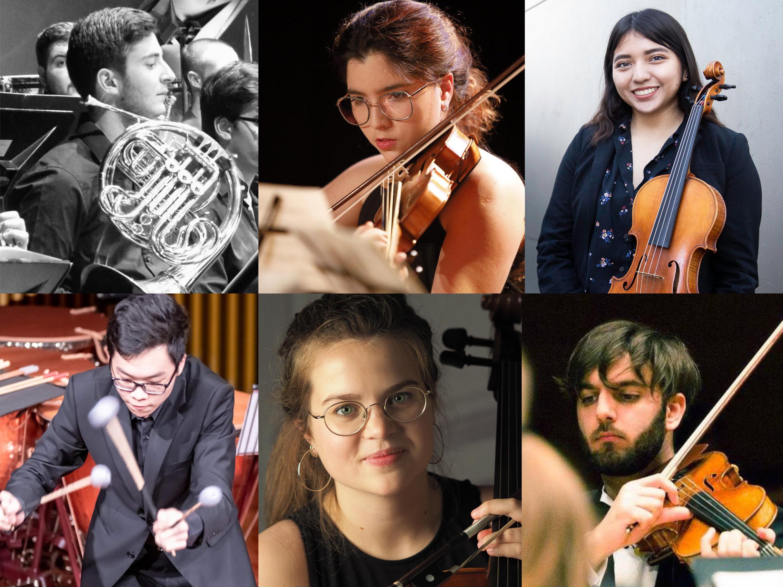 Clockwise: Antonio Lasheras, Montserrat Seras, Samantha Rosas, David Fonseca, Rut Mateu, Michael Yeung