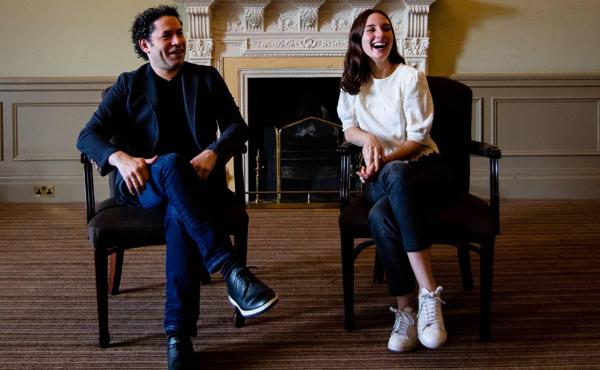 Gustavo Dudamel and  María Valverde in Edinburgh.  ALEX ONCIU