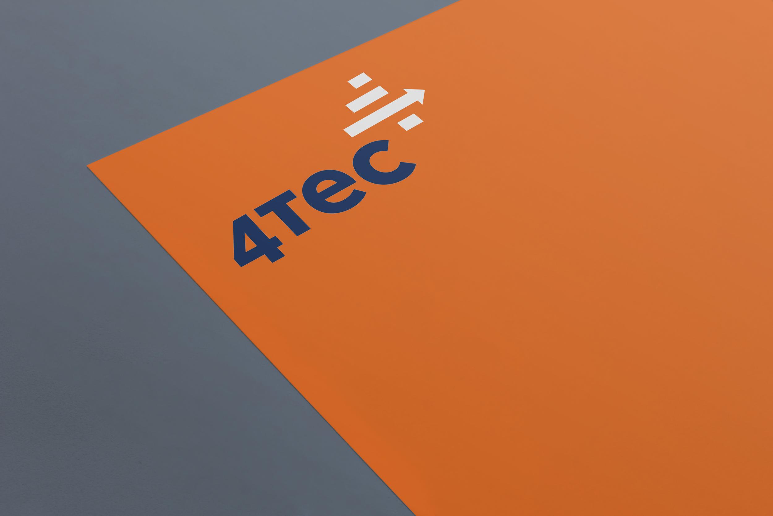 4tec  Logotipo e identidad visual