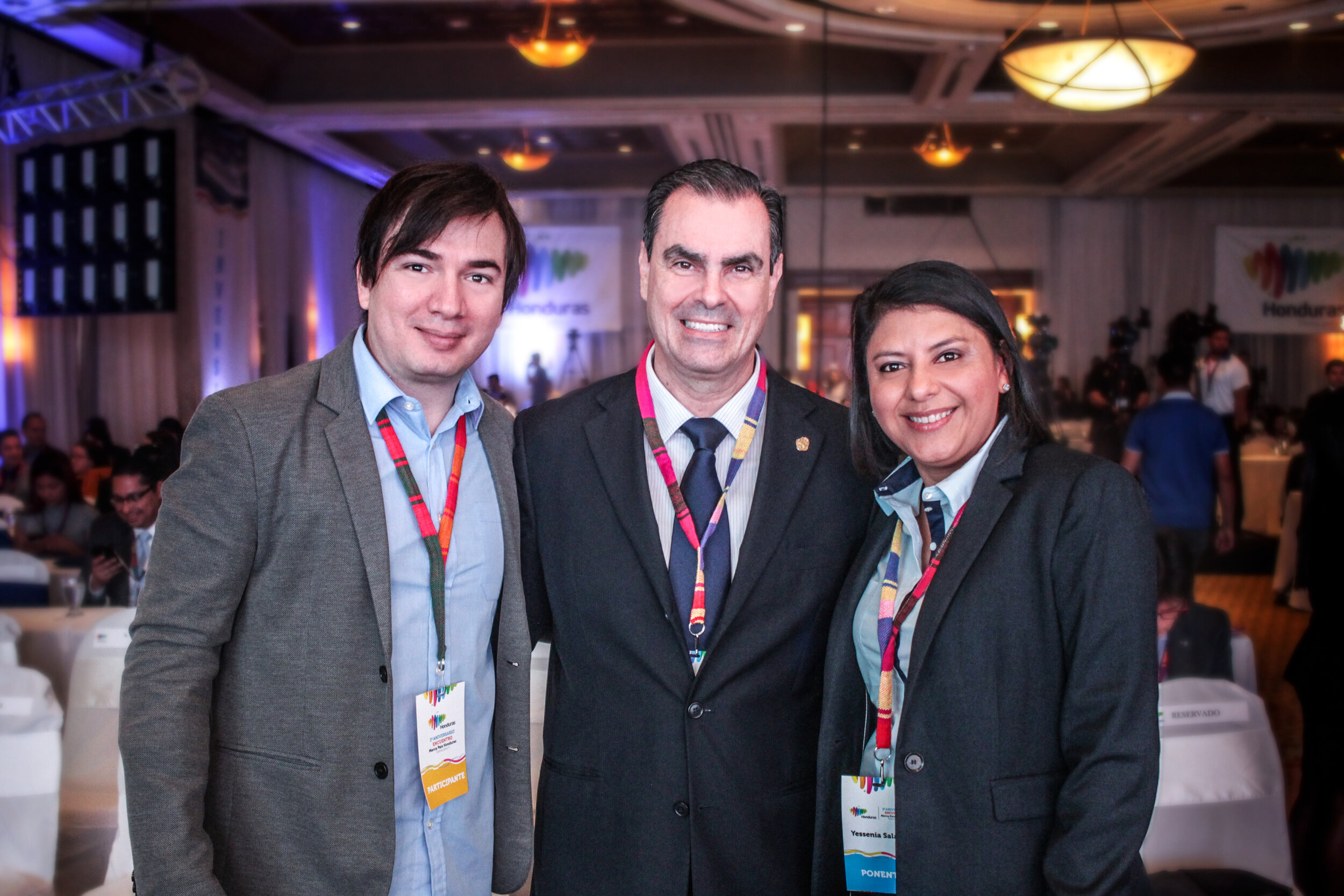En compañía del Señor Embajador de Costa Rica en Honduras, Eugenio Trejos.