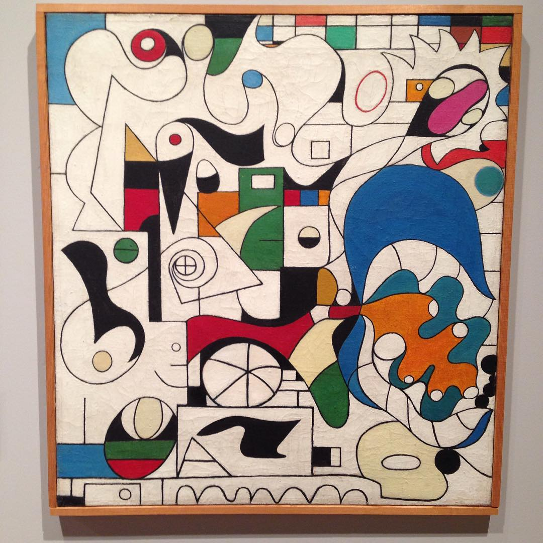 """Komposition"" av Ejler Bille, ca.1935 #arosart #arosmuesum #århus #ejlerbille #art #danishart #thirtiesart #surreal"