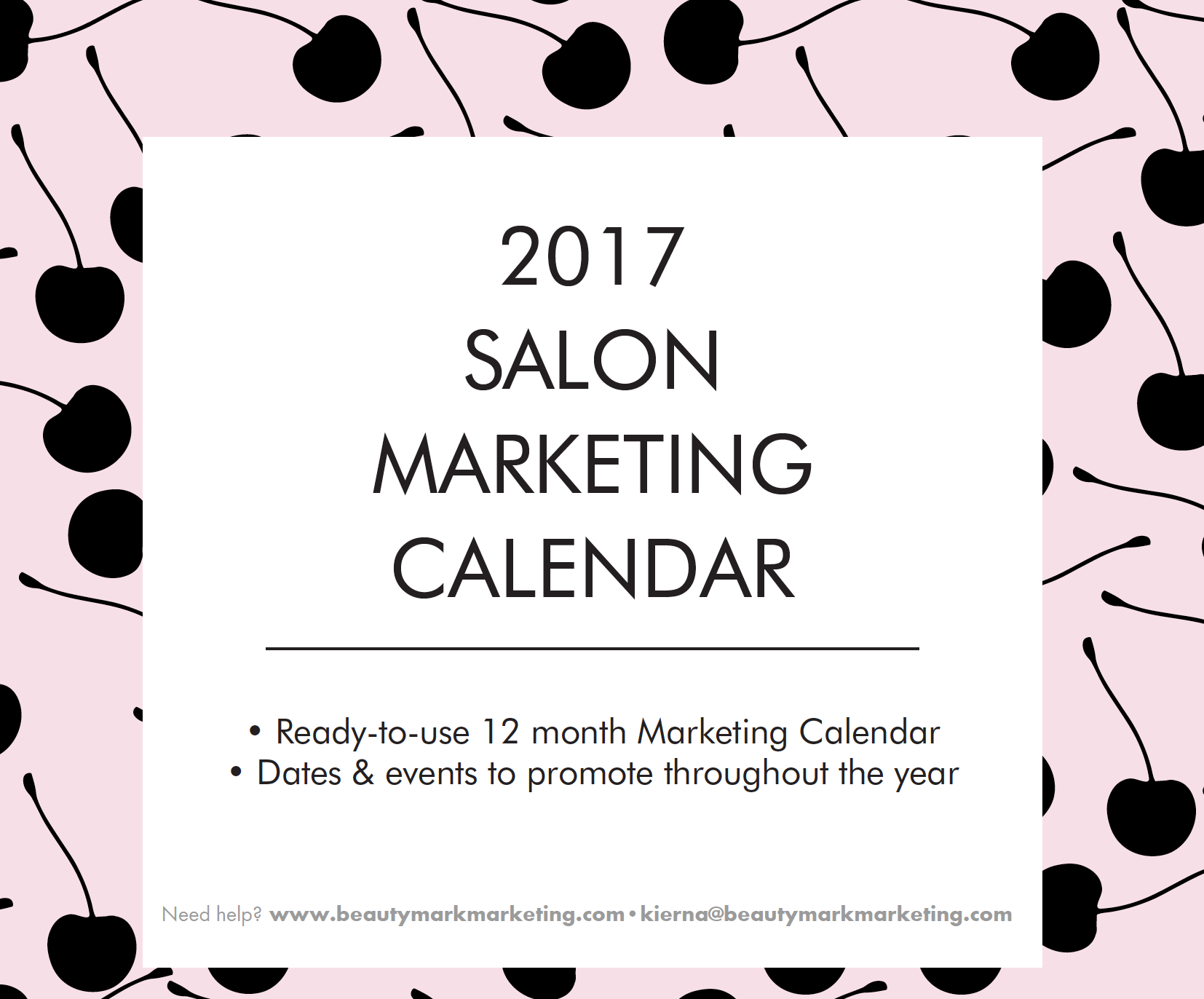 2017 salon marketing calendar