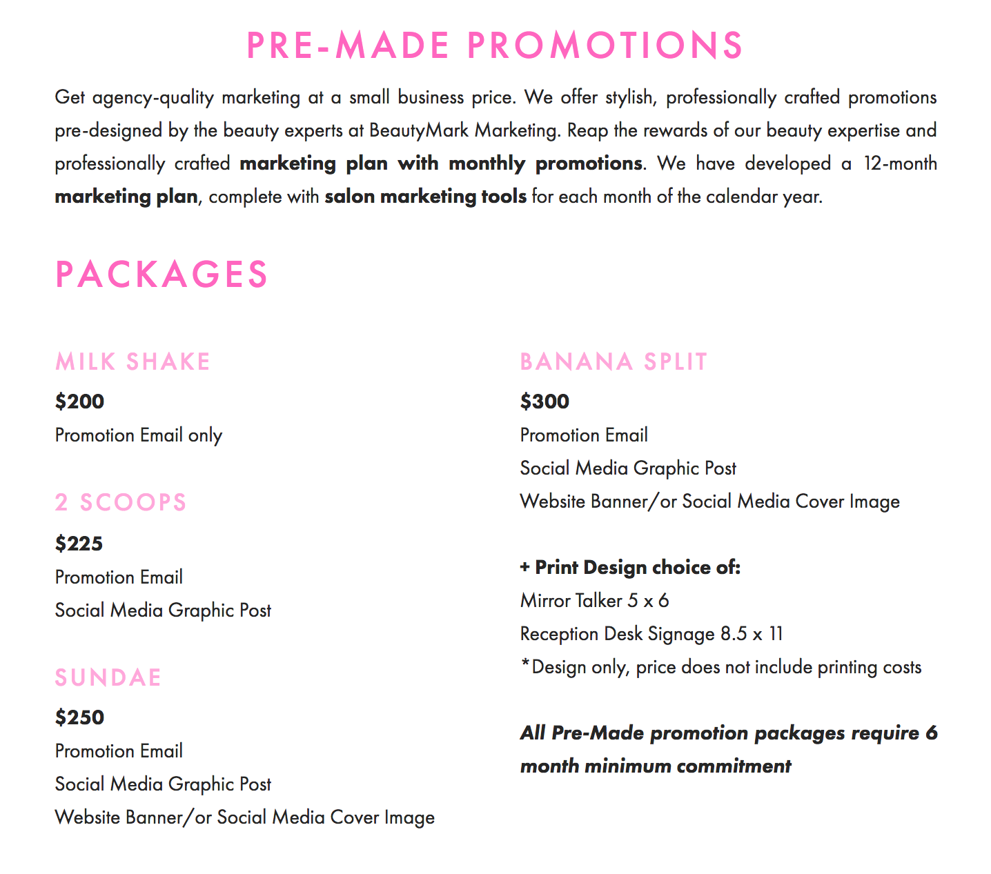 premade promotions