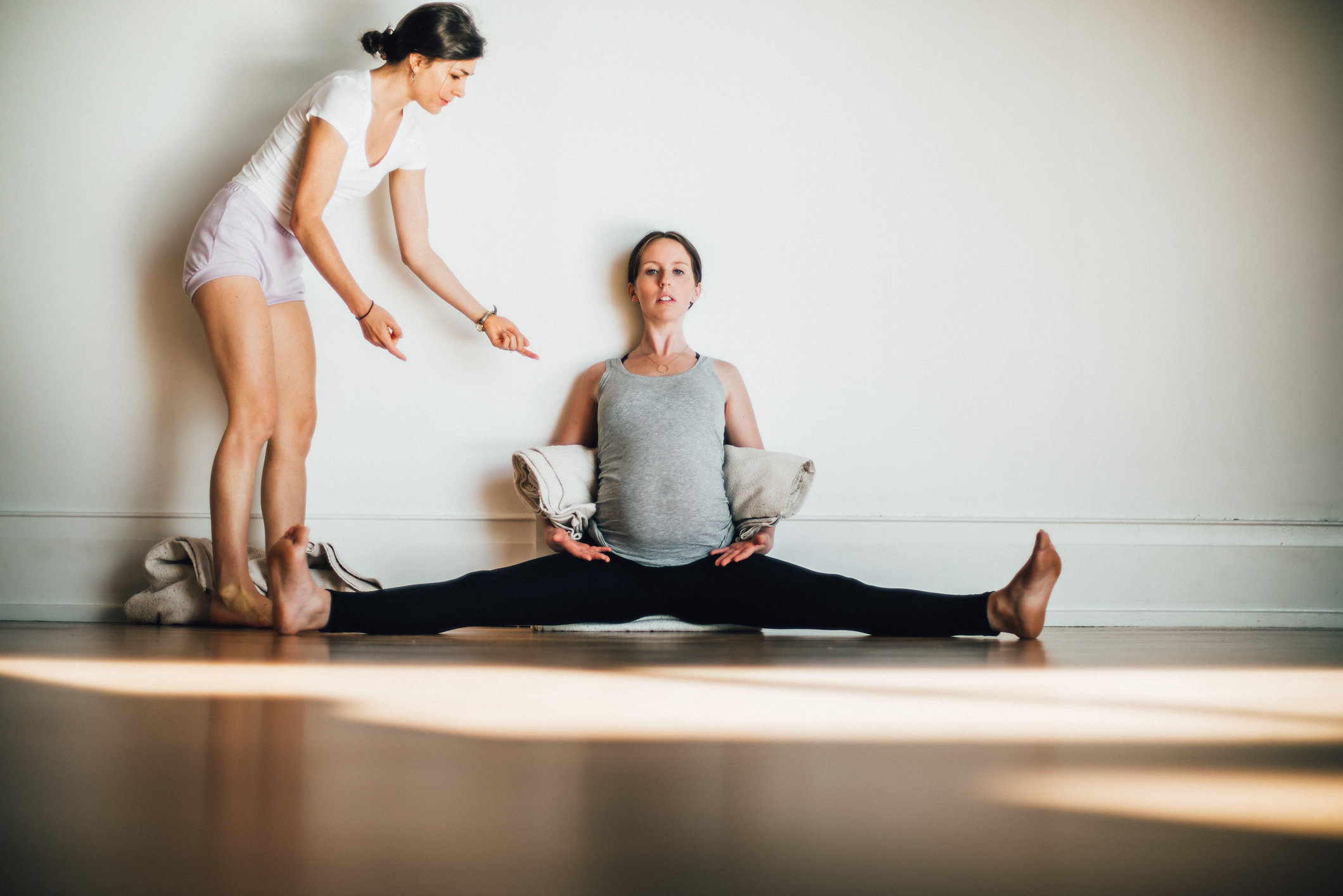 Prenatal Yoga with Jennifer Beaumont. Photo by Matthew Provoast Photography.