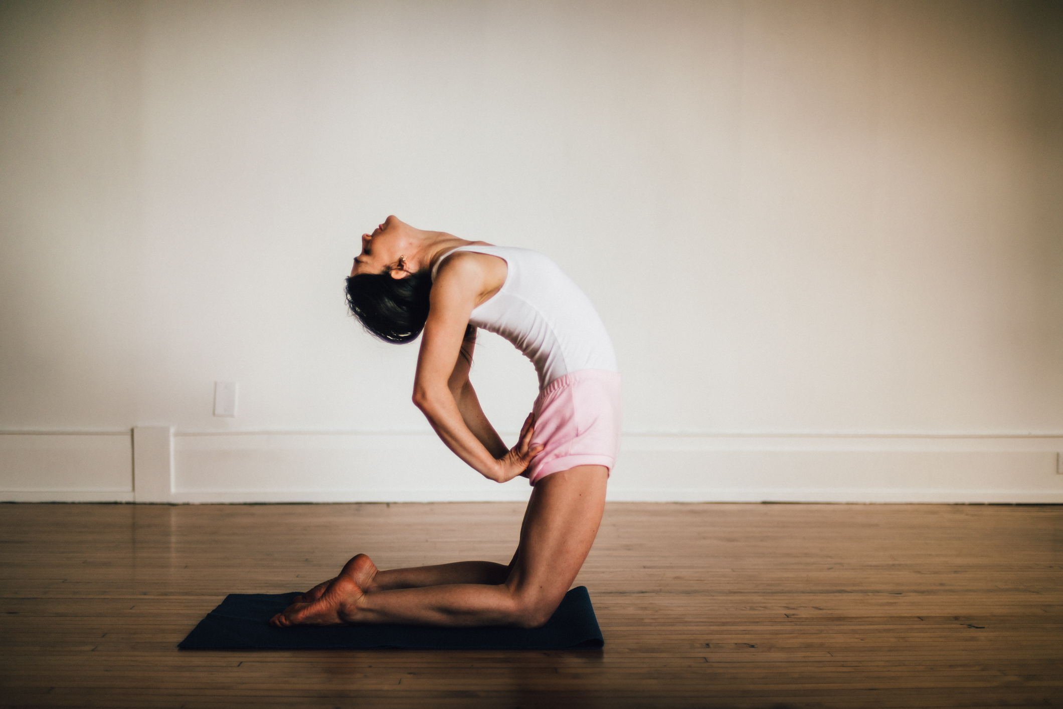 Backbends and other categories of postures are introduced in Level 2 classes.