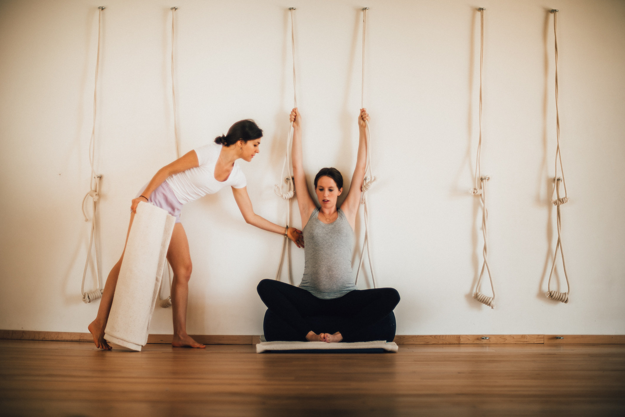 Certified Iyengar Yoga Teachers give individualized adjustments and corrections.