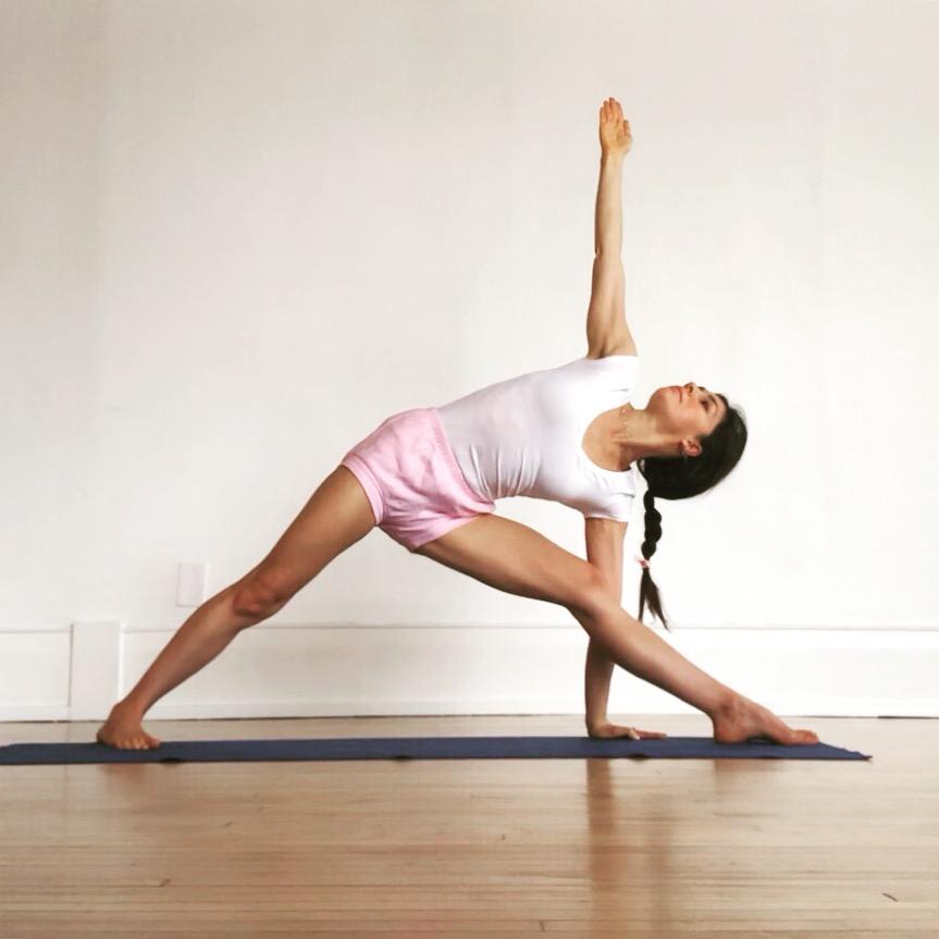 Iyengar yoga emphasizes alignment while developing strength, stamina, flexibility and balance.