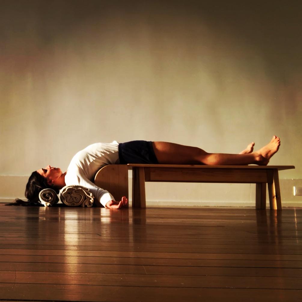 Setu Bandha Sarvāngāsana - Bridge of the whole body pose, taught in Gentle/Restorative Class
