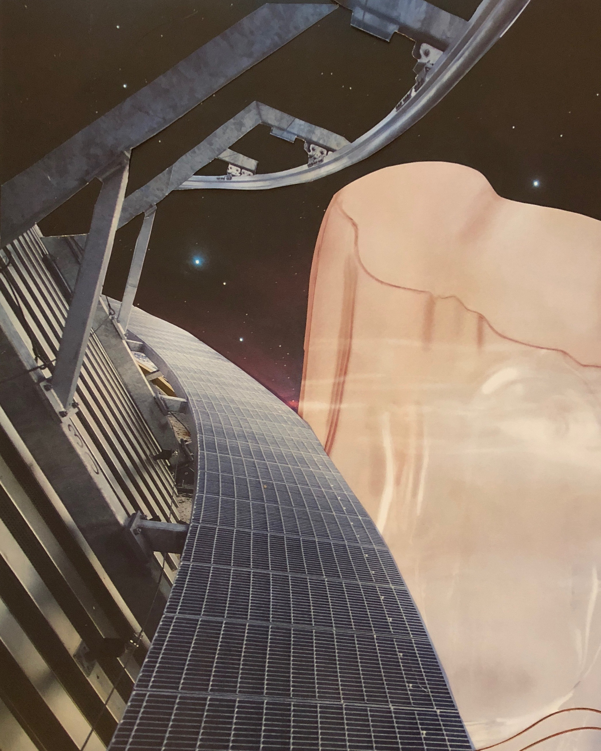 'Cosmodrome' - Analog Collage - 2018