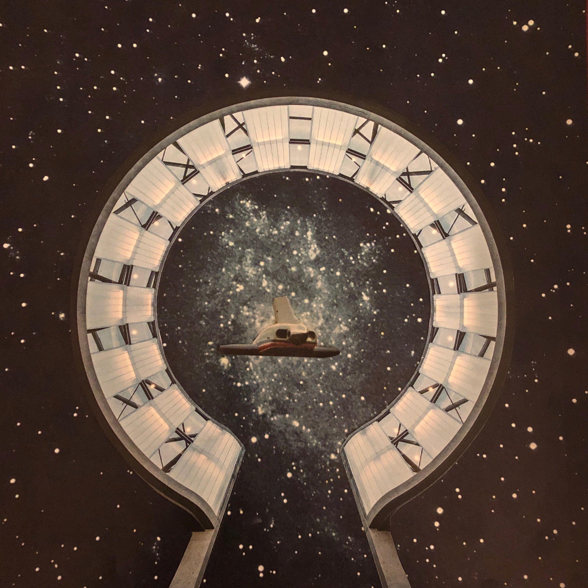 Cosmic Portal Gate - Analog Collage - 2019