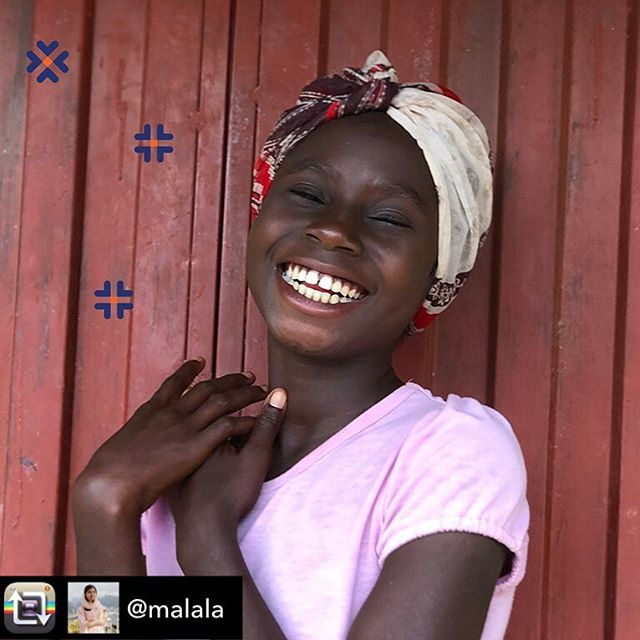 """Repost from @malala using @RepostRegramApp - I have visited girls in favelas, slums, refugee camps and war zones. The hardest thing is to see a girl nearly my age, with all the dreams and aspirations that I have, stuck in a situation she didn't create and unable to choose her own future.  Today is International Day of the Girl. Let's make it more than just feminist T-shirts and hashtags. If we truly believe """"the future is female"""" or that """"girls run the world,"""" we need to support girls on the front lines of the fight for education and equality.  Link in profile to @malalafund. #DayOfTheGirl"""