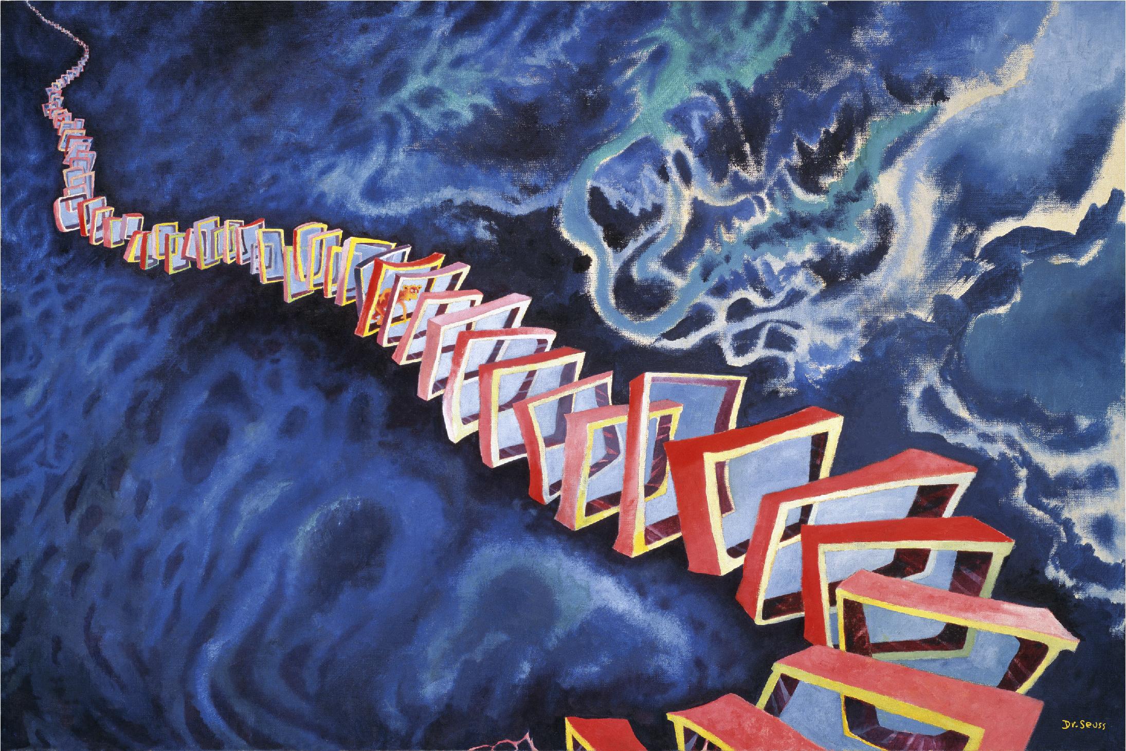I DREAMED I WAS A DOORMAN AT THE HOTEL DEL CORONADO-Dr.Sejss Art Print On Canvas