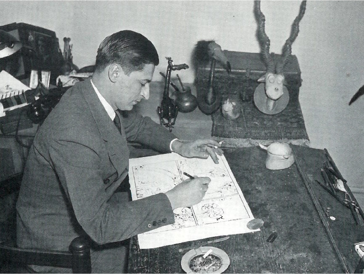 Original Walrus on Ted's desk, photographed in 1935