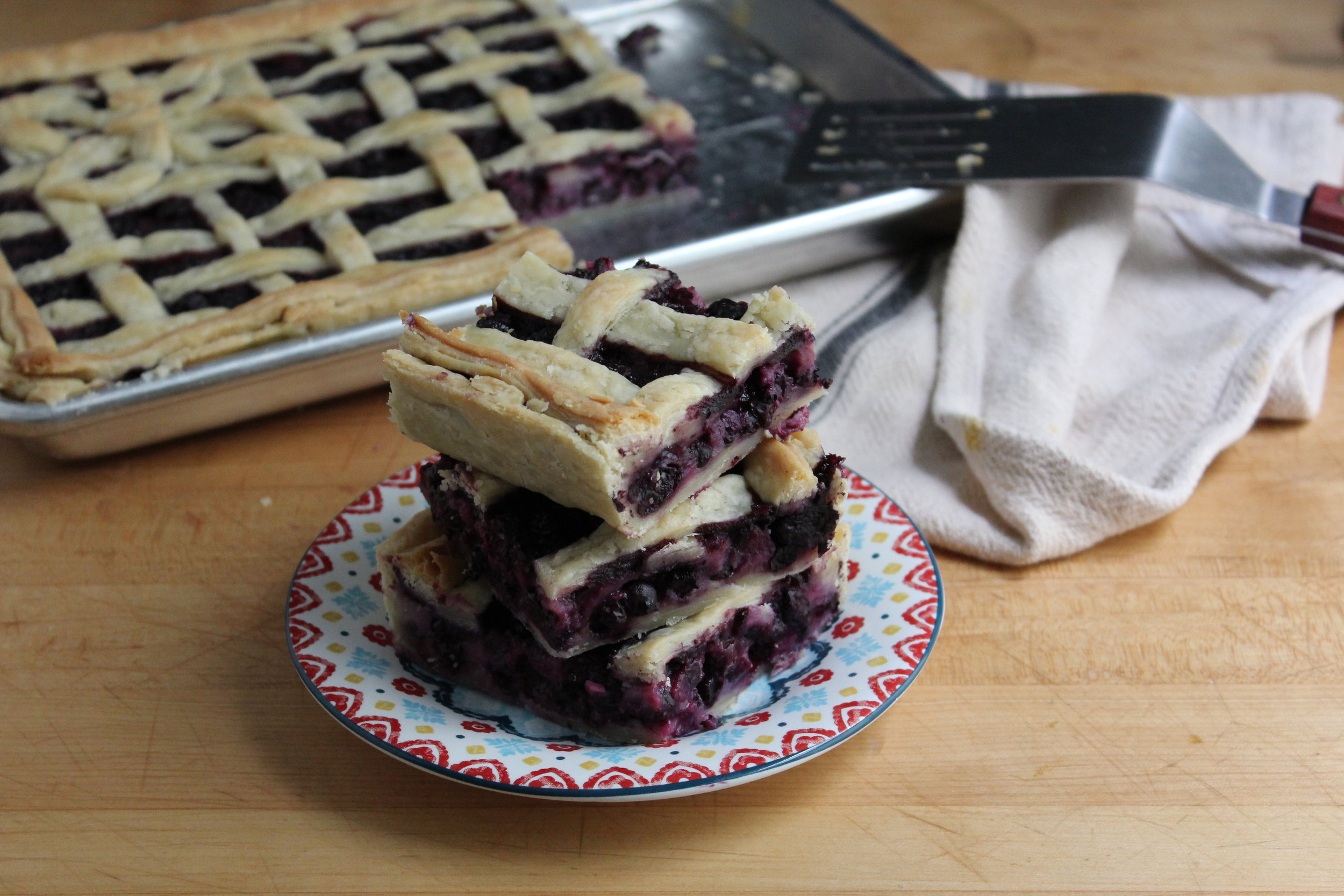 blueberry buttermilk slab pie