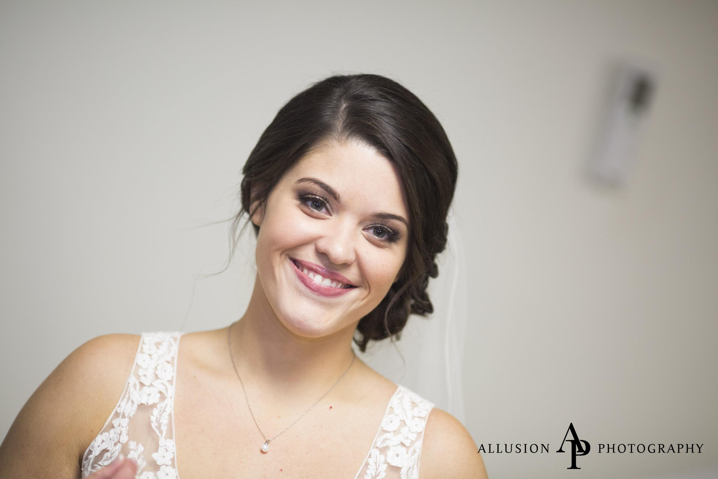 Bride: Samantha   12.15.15  Photo: Allusion Photography