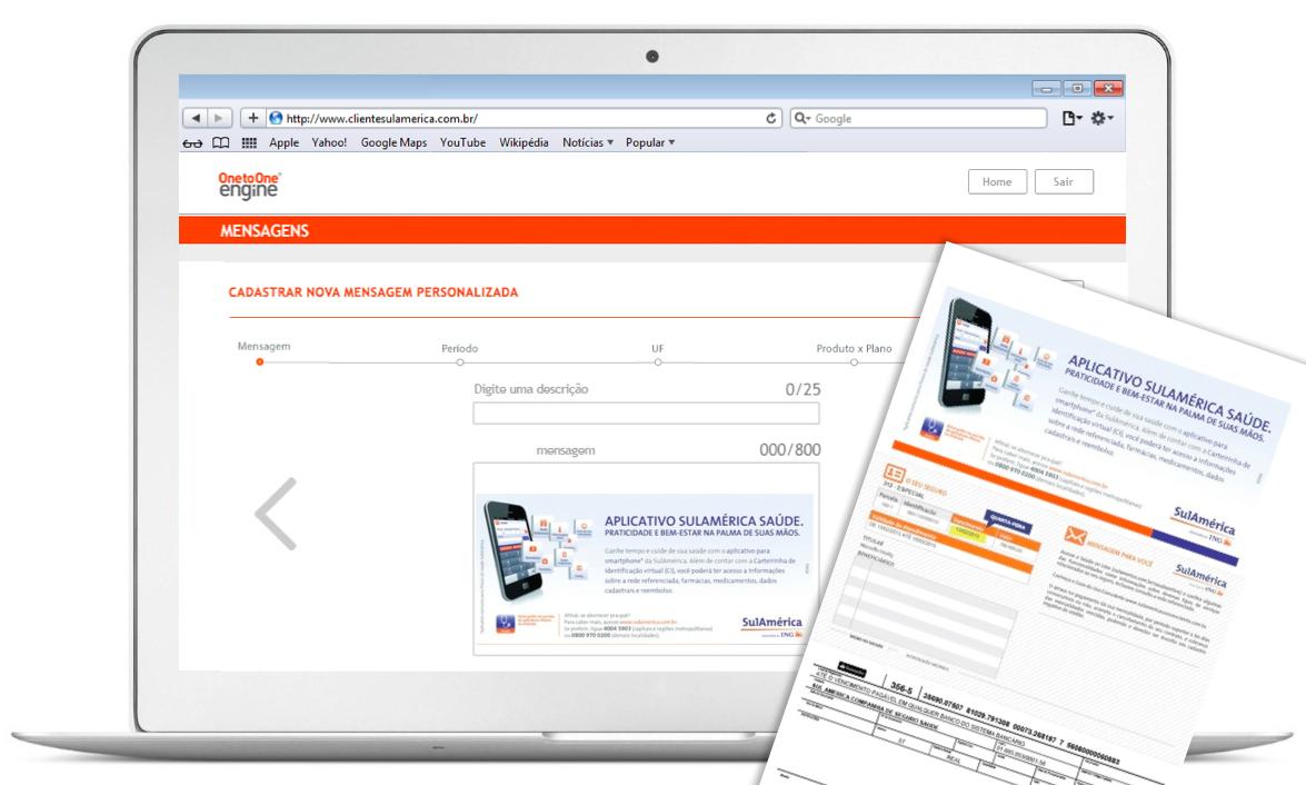 Tela web de cadastro de novas campanhas Transpromo