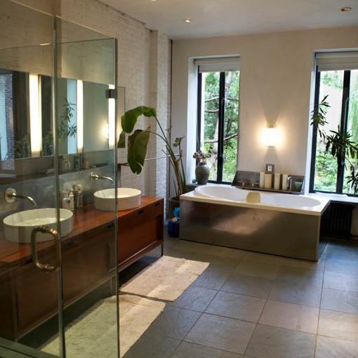 modern bathroom west village