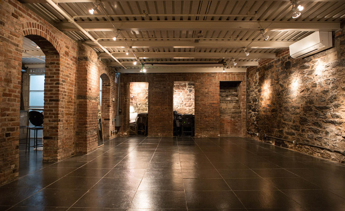 brick archways for film and photo shoots