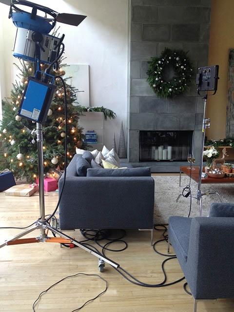 Dressbarn   Winter catalog setup at   BMS's living area