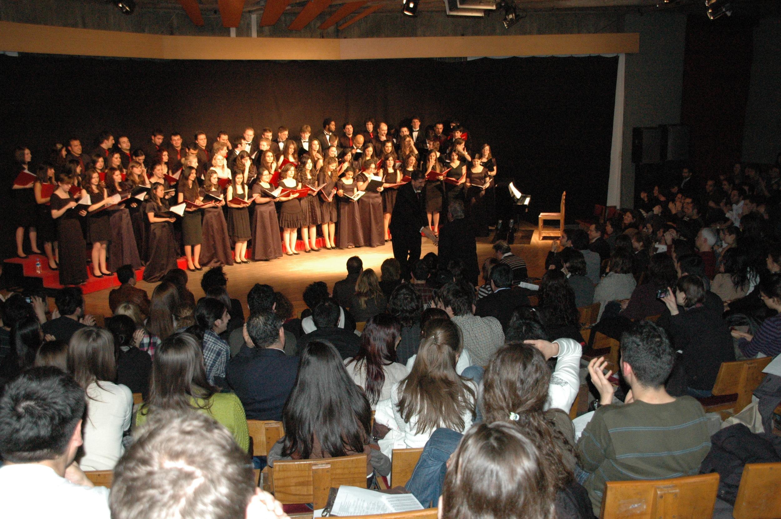 Chamber Singers joint concert with METU University Choir, Ankara, Turkey 2010