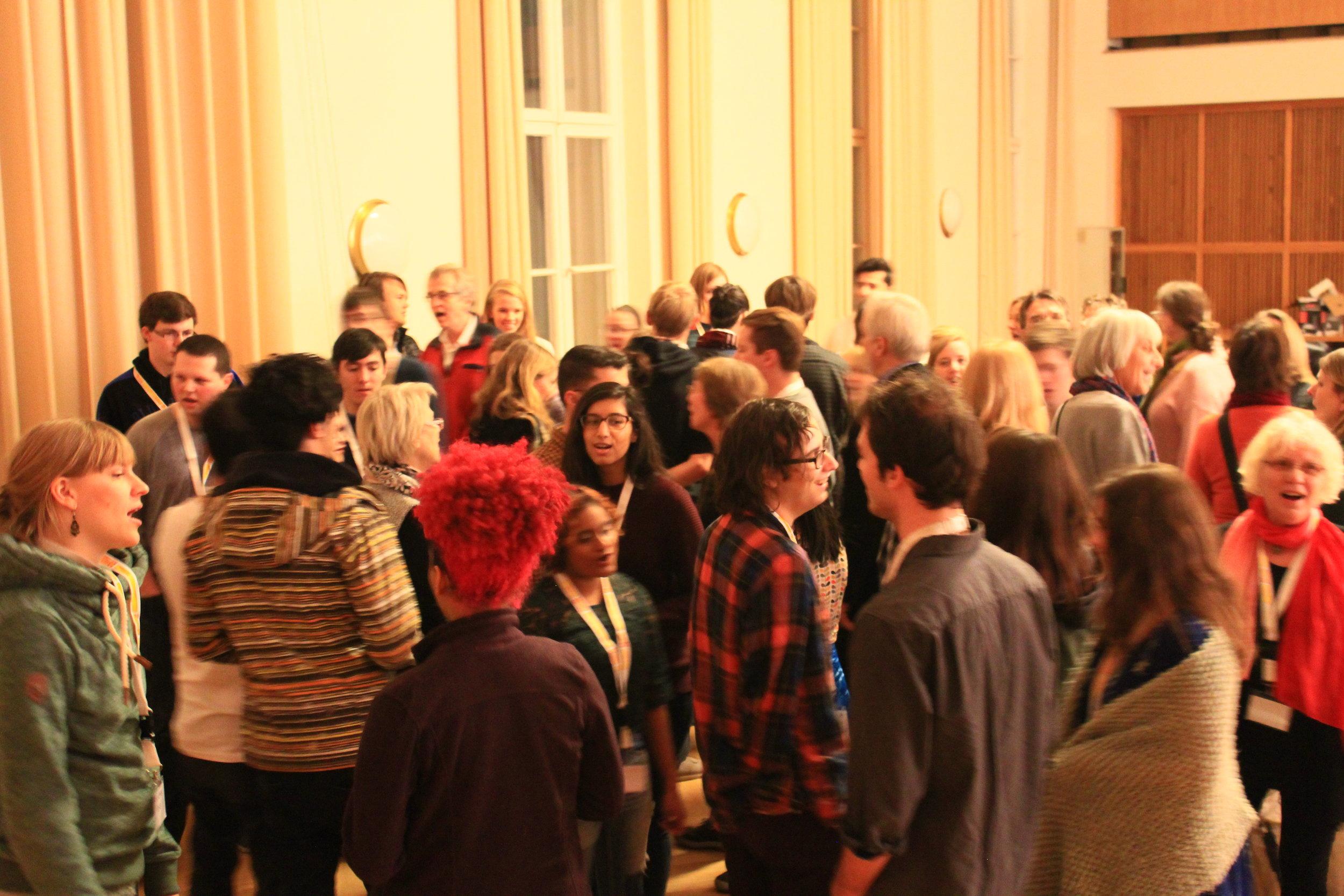Vocal improv warm-ups with Begegnungschor