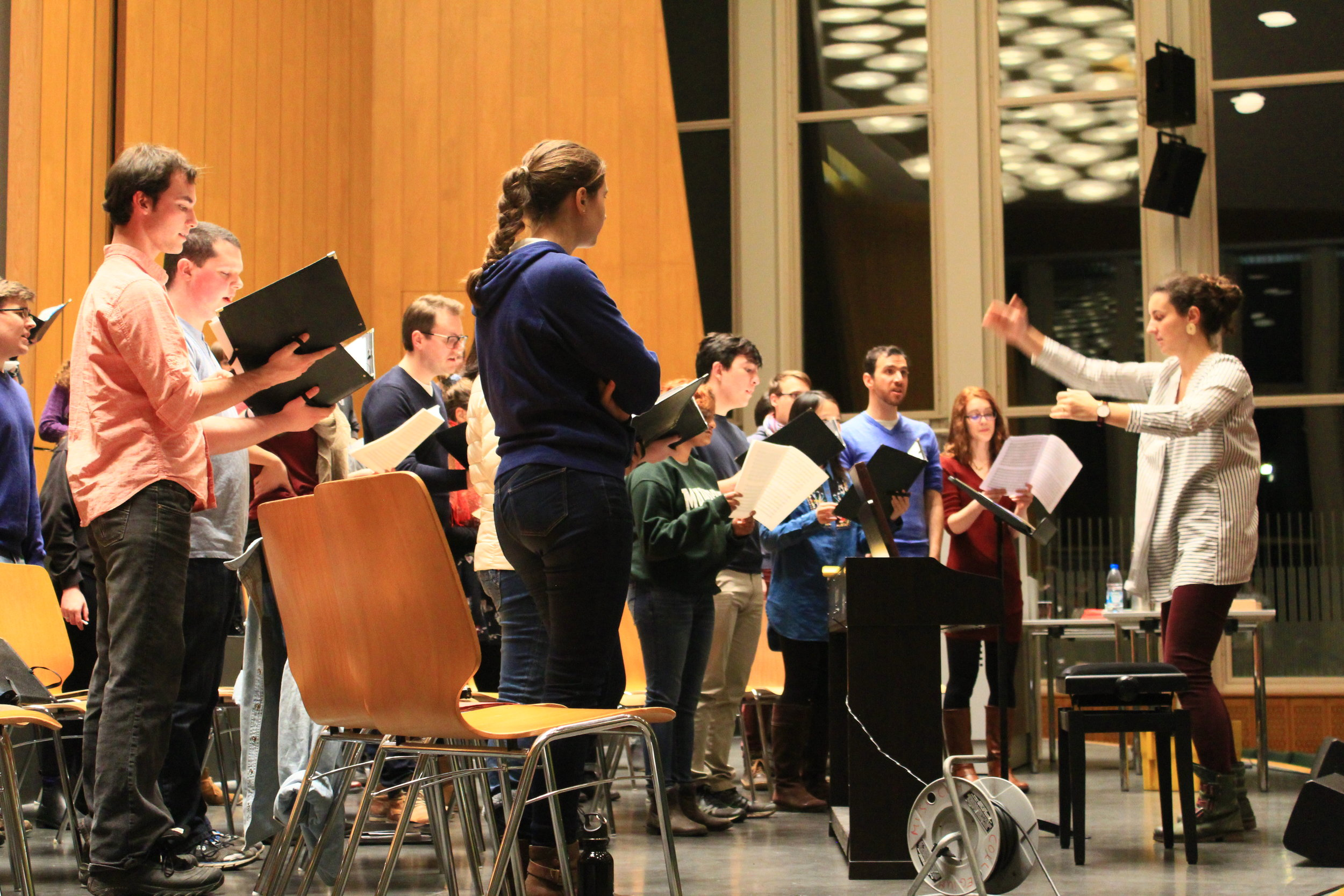 In rehearsal with Donka Miteva and the Kammerchor Collegium Musicum Berlin