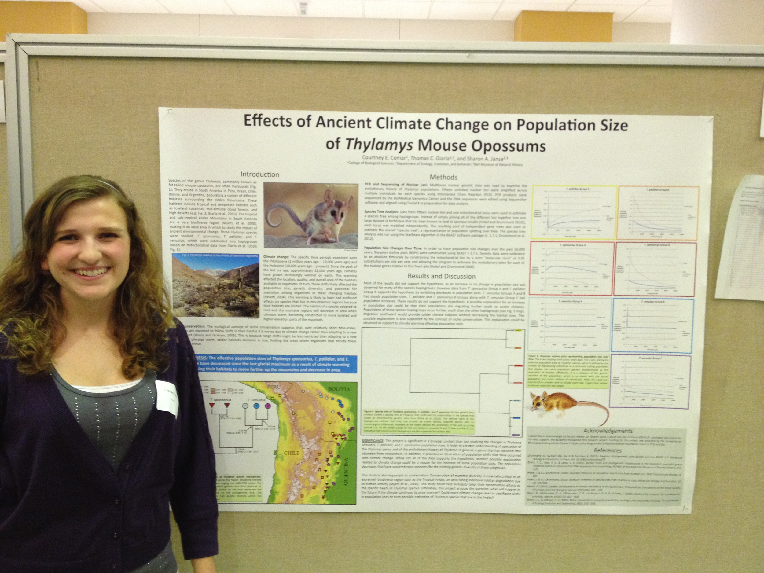 U of M advisee Courtney Comar presents her work in April 2012