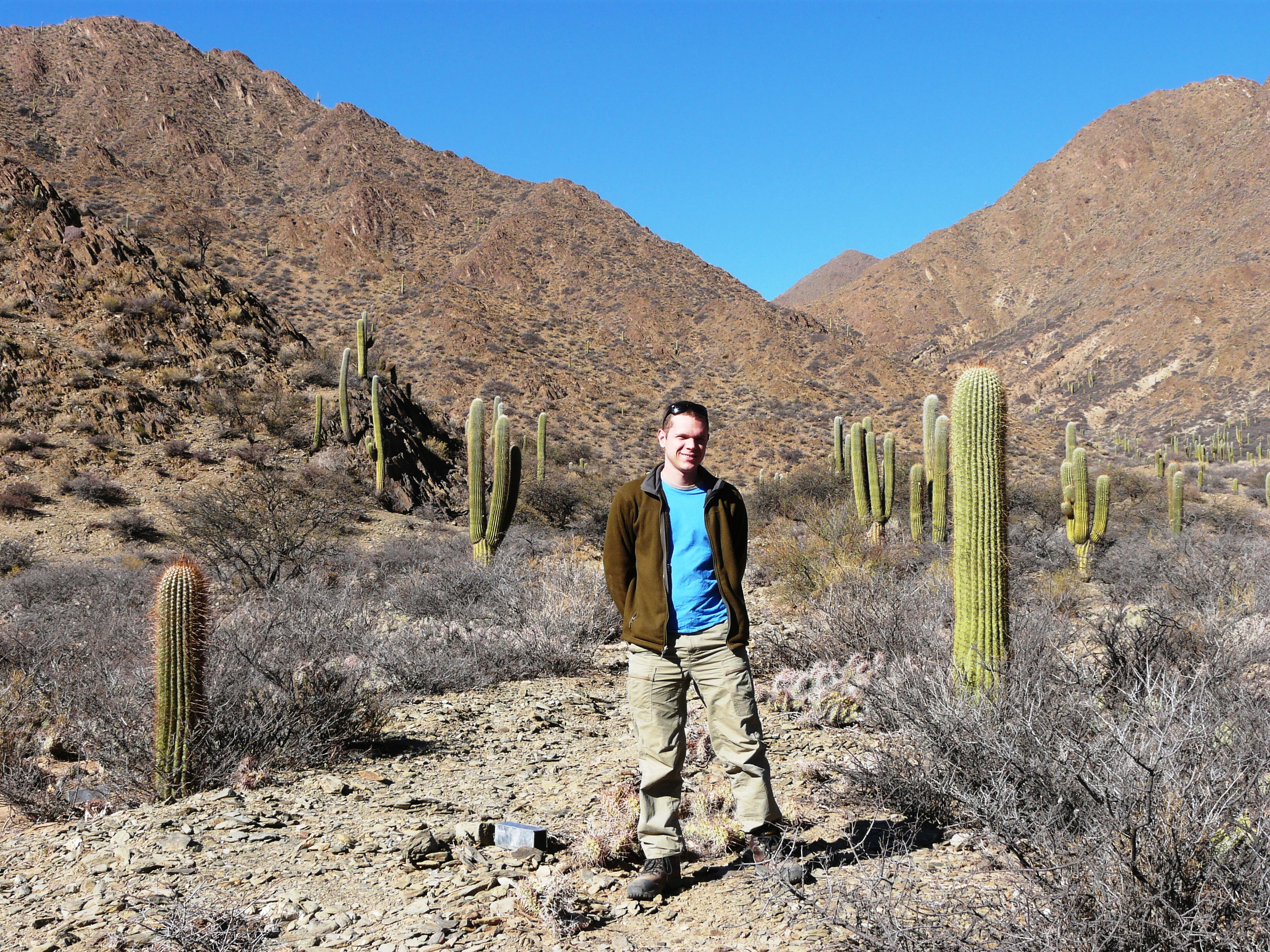 Collecting mammals in the Andes near Cachi, Argentina