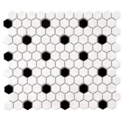 Black and white hexagon floor tile.jpg