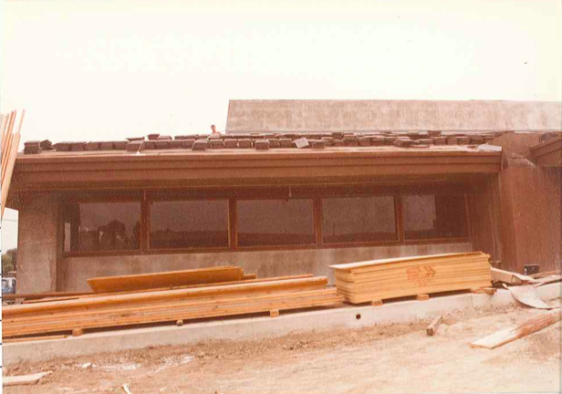 The building in its early stages