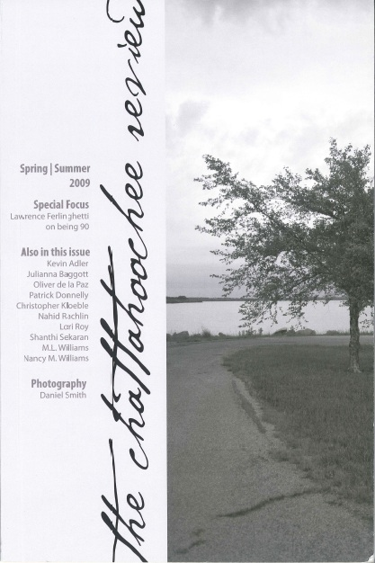 "The Chattahoochee Review literary journal issue in which Nancy M. Williams' award winning essay ""Deserting the Piano"" appeared"