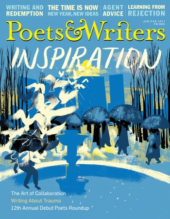 "Poets & Writers magazine's Inspiration issue, in which Nancy M. Williams published the essay, ""The Long Thaw: How a Concussion Revolutionized My Writing Life"""