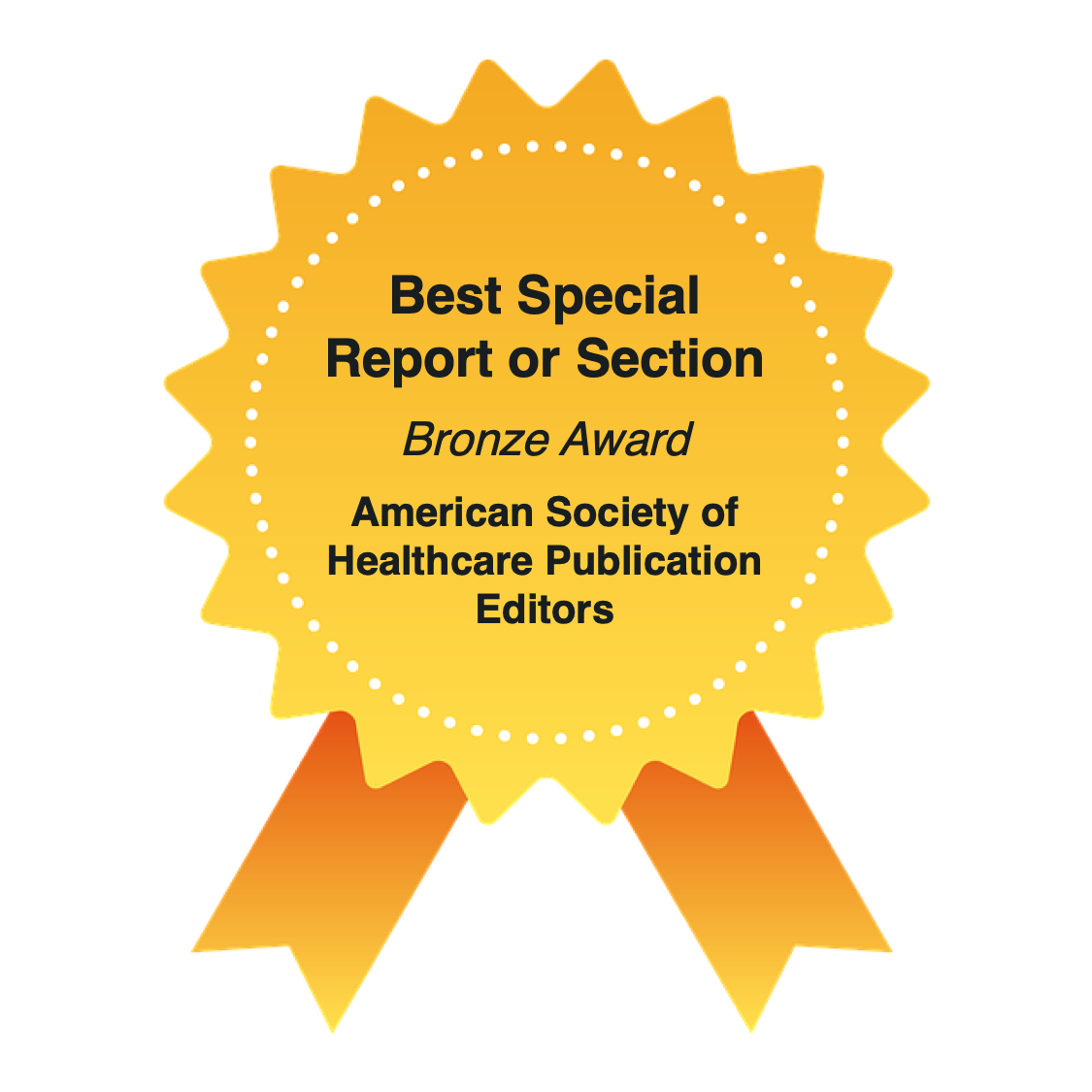 Best Special Report or Section, Bronze Award, American Society of Healthcare Publication Editors