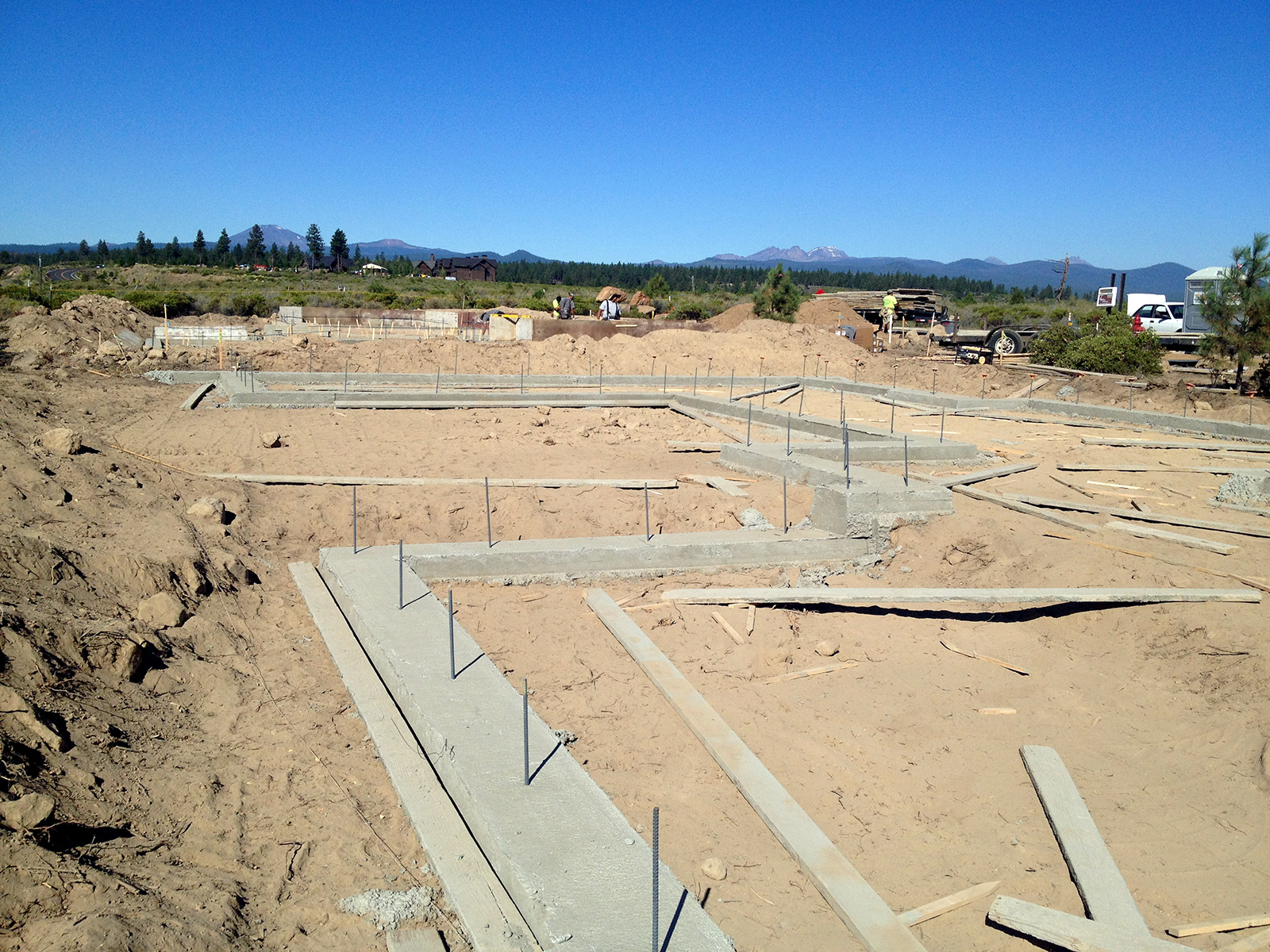 Spread Footings in Place . . . and Great Mountain Views!